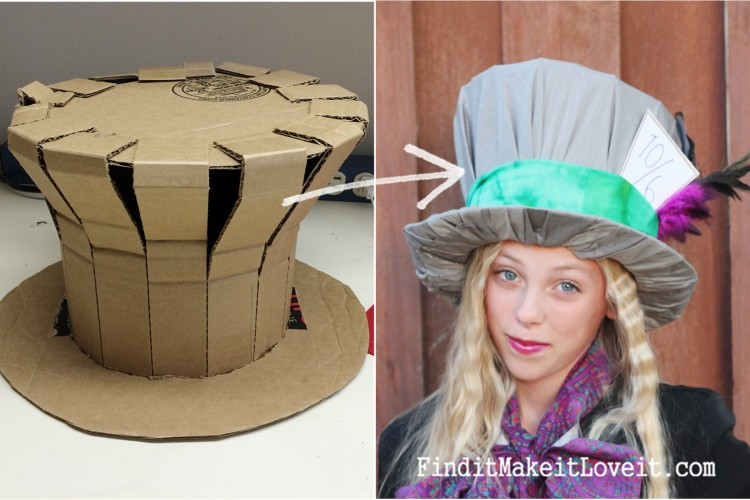 diy mad hatter hat and costume find it make it love it. Black Bedroom Furniture Sets. Home Design Ideas