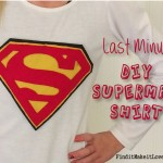 Last Minute DIY Superman Shirt