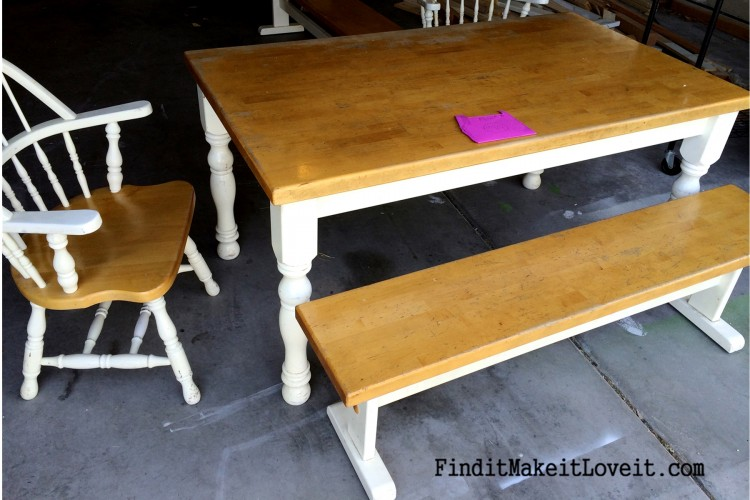 How To Re stain a Table Farmhouse Table Makeover Find it Make it Love it