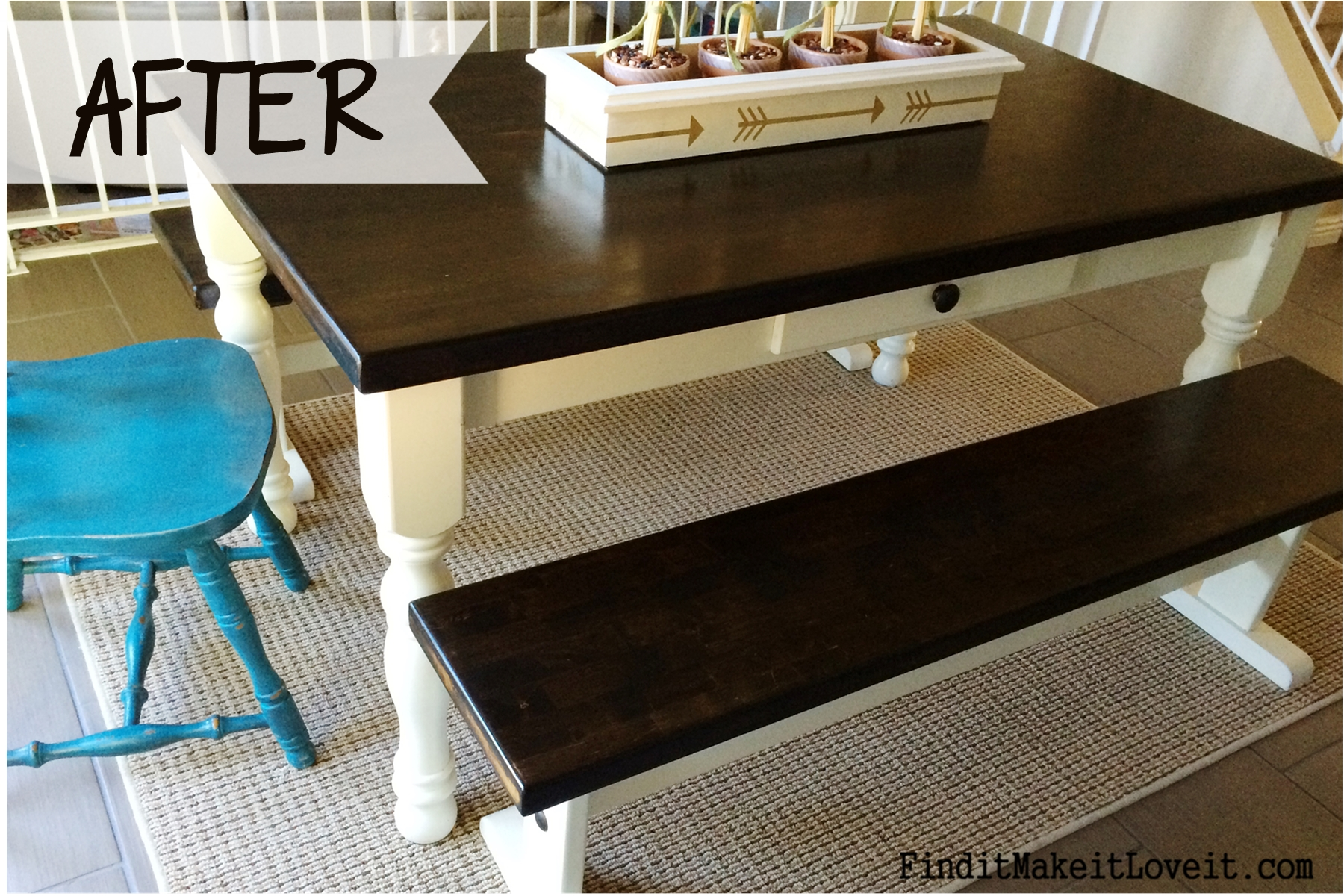 Farmhouse table refinish 2 find it make it love it - Refinish contemporary dining room tables ...