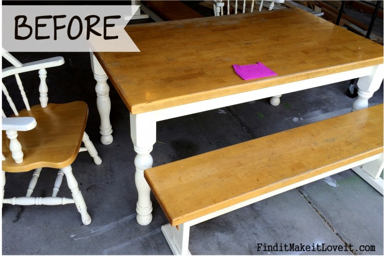 How To Re Stain A Table Farmhouse Table Makeover Find
