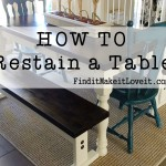How To Re-stain a Table – Farmhouse Table Makeover
