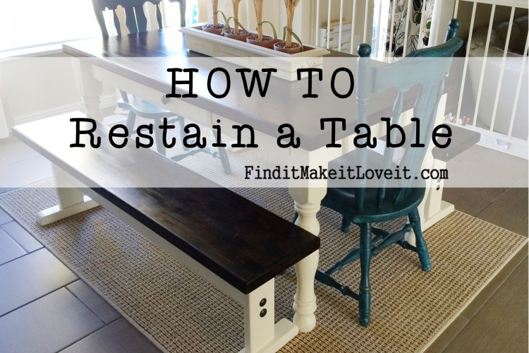 how to restain a table