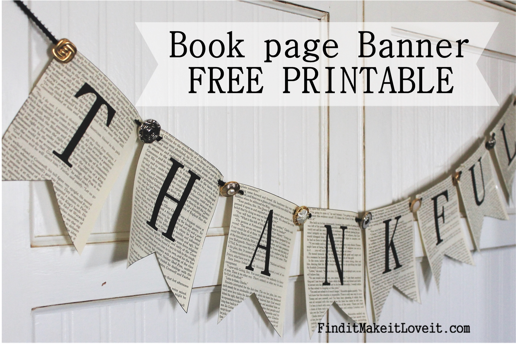 This is a photo of Sweet Printable Thanksgiving Banners