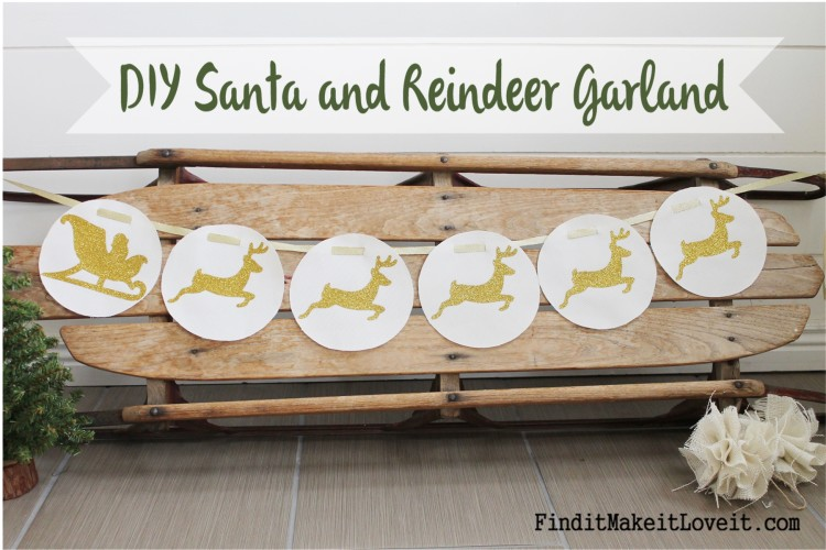 DIY Santa and Reindeer Garland (3)