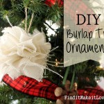 DIY Burlap Tree Ornament