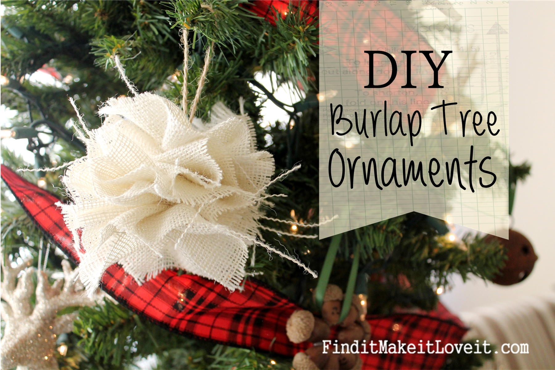Petal burlap wreath how to cheat the perfect bow find it make diy burlap tree ornament solutioingenieria Gallery