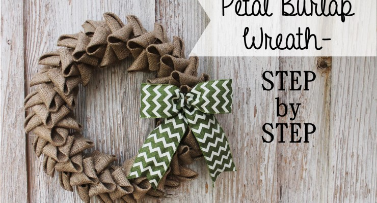 Petal Burlap Wreath + How to Cheat the Perfect Bow