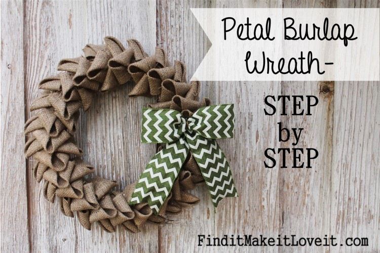 Petal burlap wreath how to cheat the perfect bow find it make it