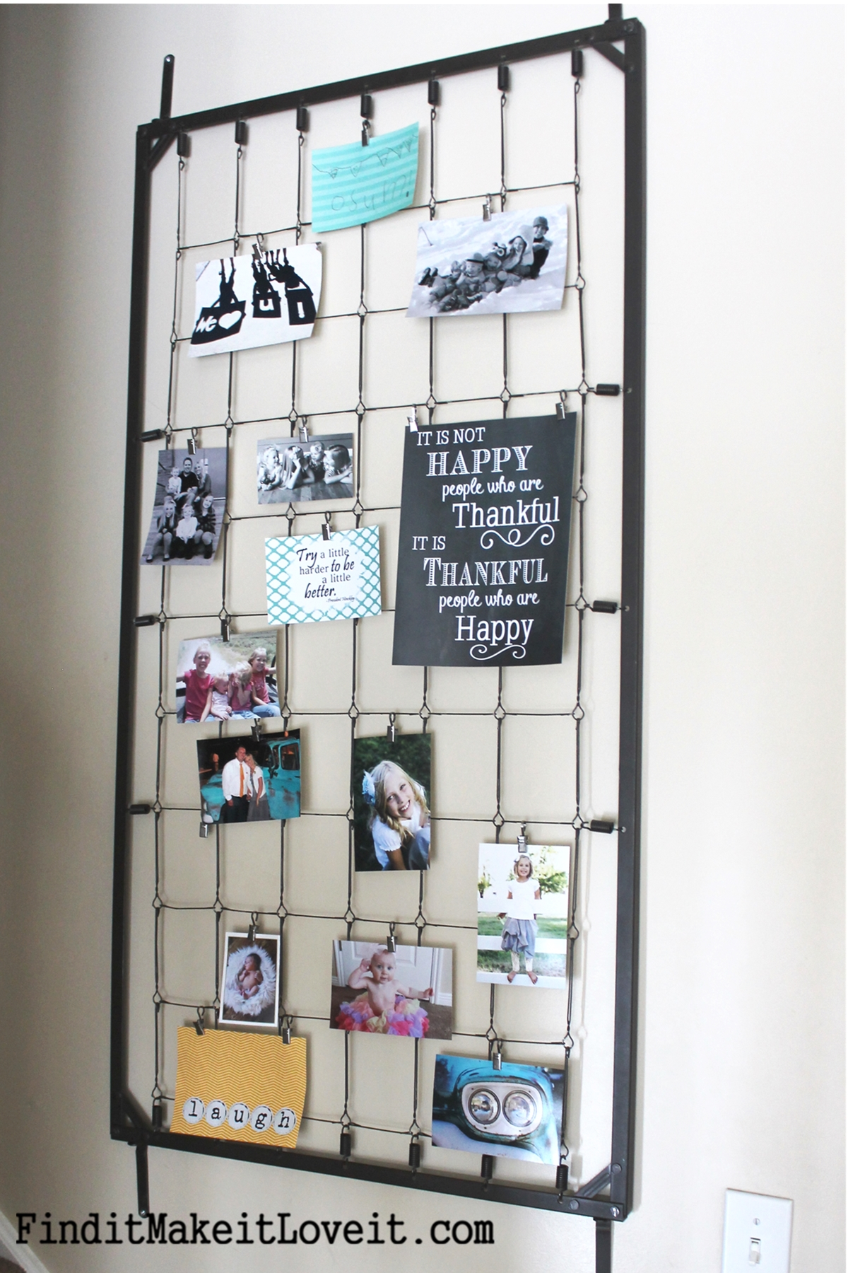Crib Spring Picture Frame DIY! (the ultimate up-cycle) - Fun Cheap ...