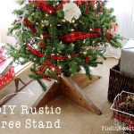 DIY Rustic Tree Stand