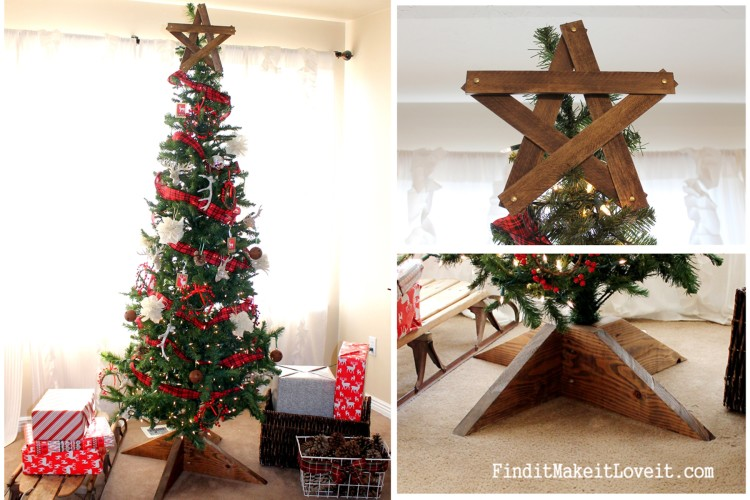 DIY Rustic tree star and tree stand (7)