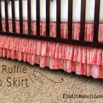 DIY Ruffle Crib Skirt