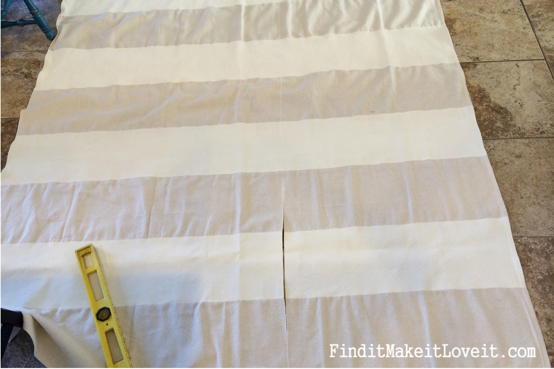 Diy Drop Cloth Curtains Diy Painted Drop Cloth Curtains Find It Make It Love It