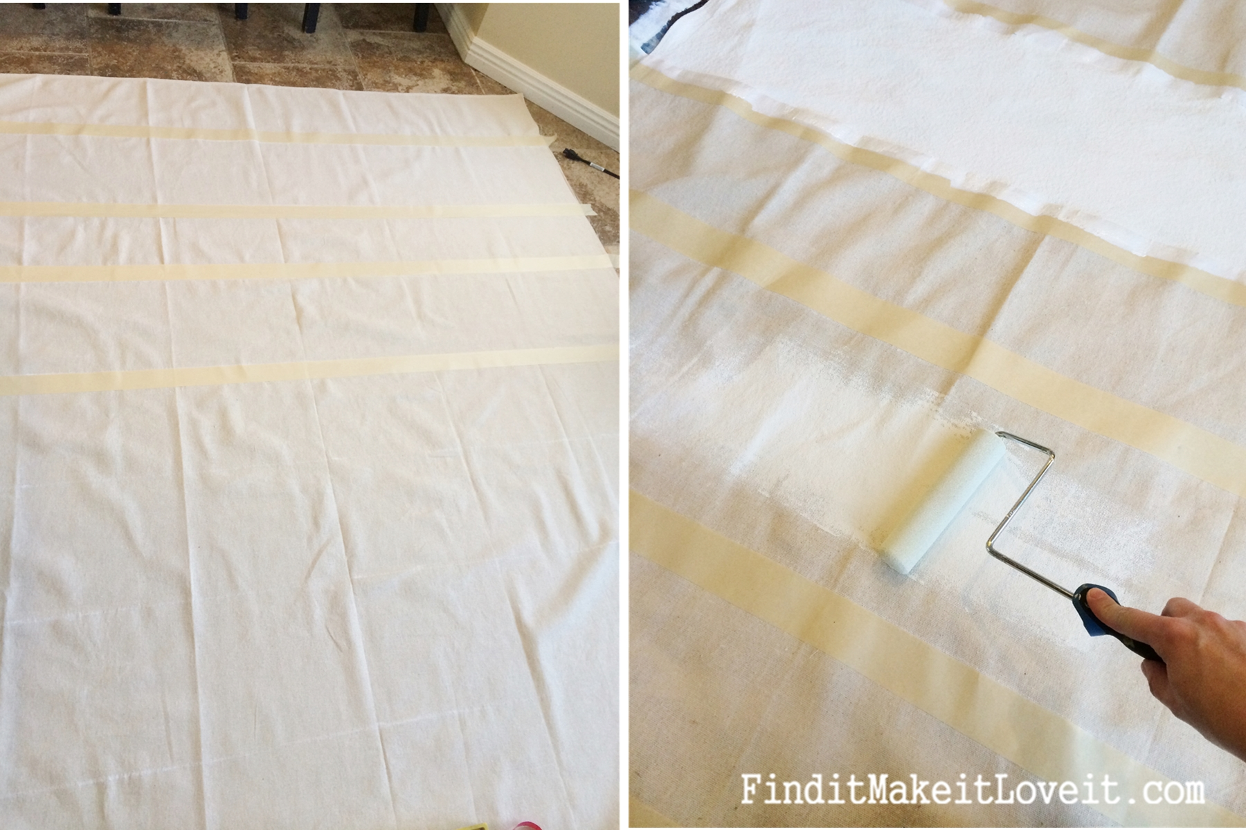 DIY Painted Drop Cloth Curtains - Find it, Make it, Love it
