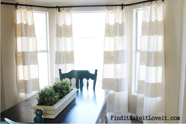 DIY Painted Drop Cloth Curtains (7)