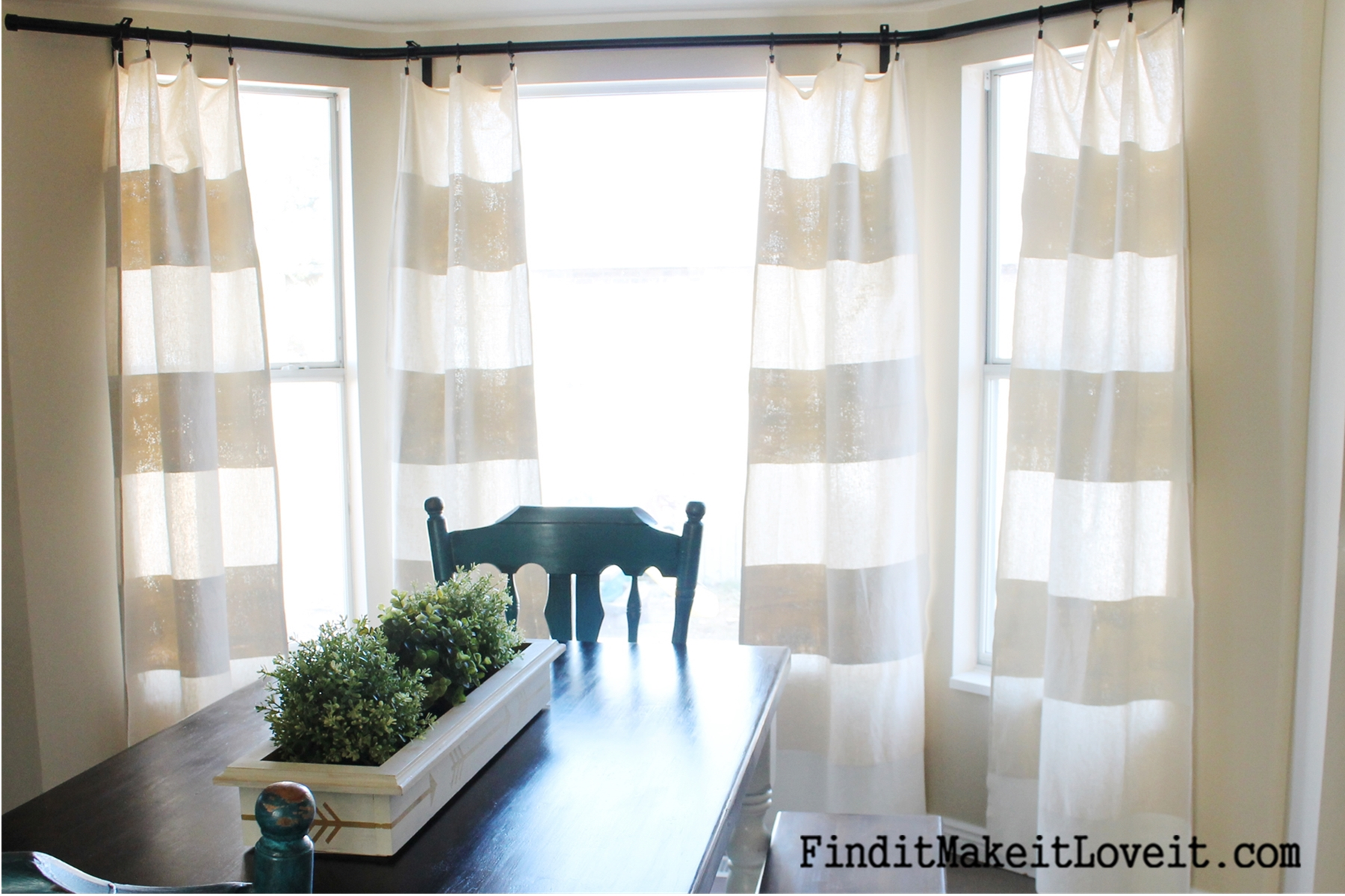 Well-liked DIY Painted Drop Cloth Curtains - Find it, Make it, Love it TZ13