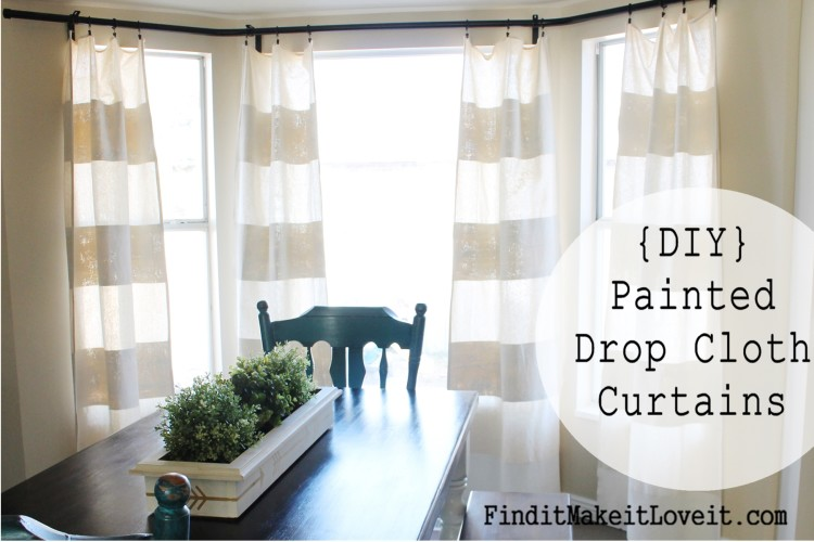 DIY Painted Drop Cloth Curtains (8)
