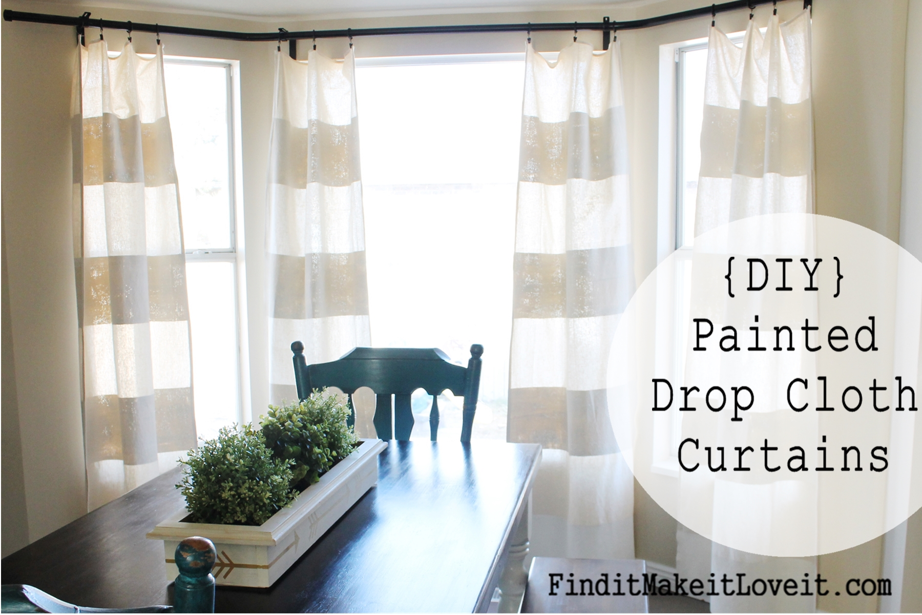 Diy Painted Drop Cloth Curtains Find It Make It Love It