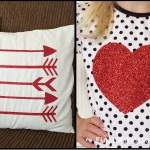 Valentine Pillow and Shirt – Heat Transfer Vinly