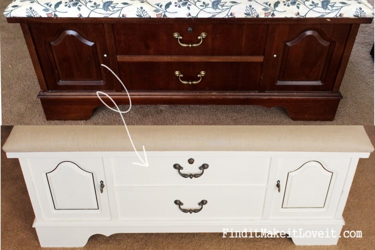 cedar chest before and after