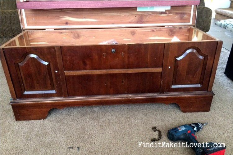 how to paint and reupholster a cedar chest (15)