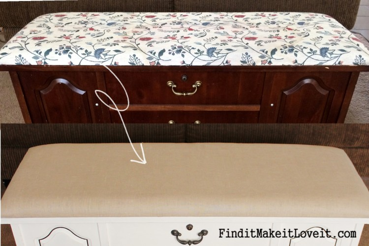 how to paint and reupholster a cedar chest (18)