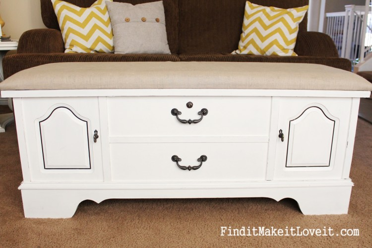 how to paint and reupholster a cedar chest (2)