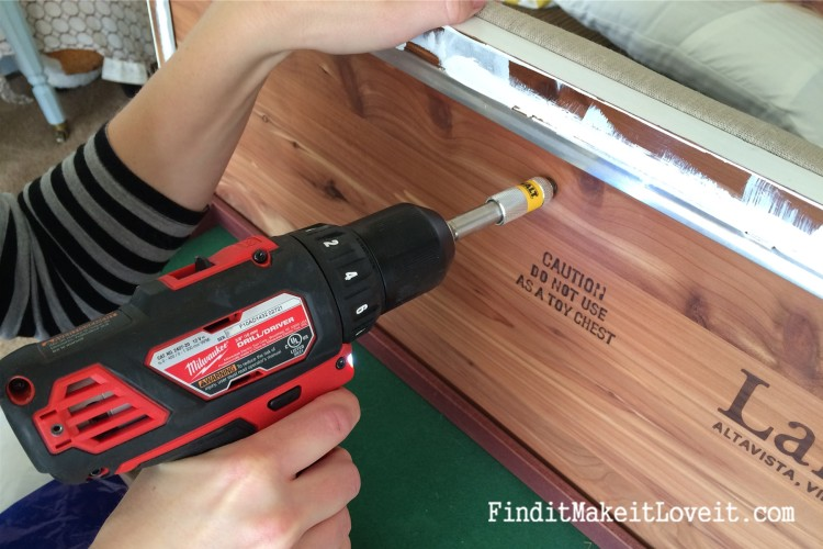 how to paint and reupholster a cedar chest (6)