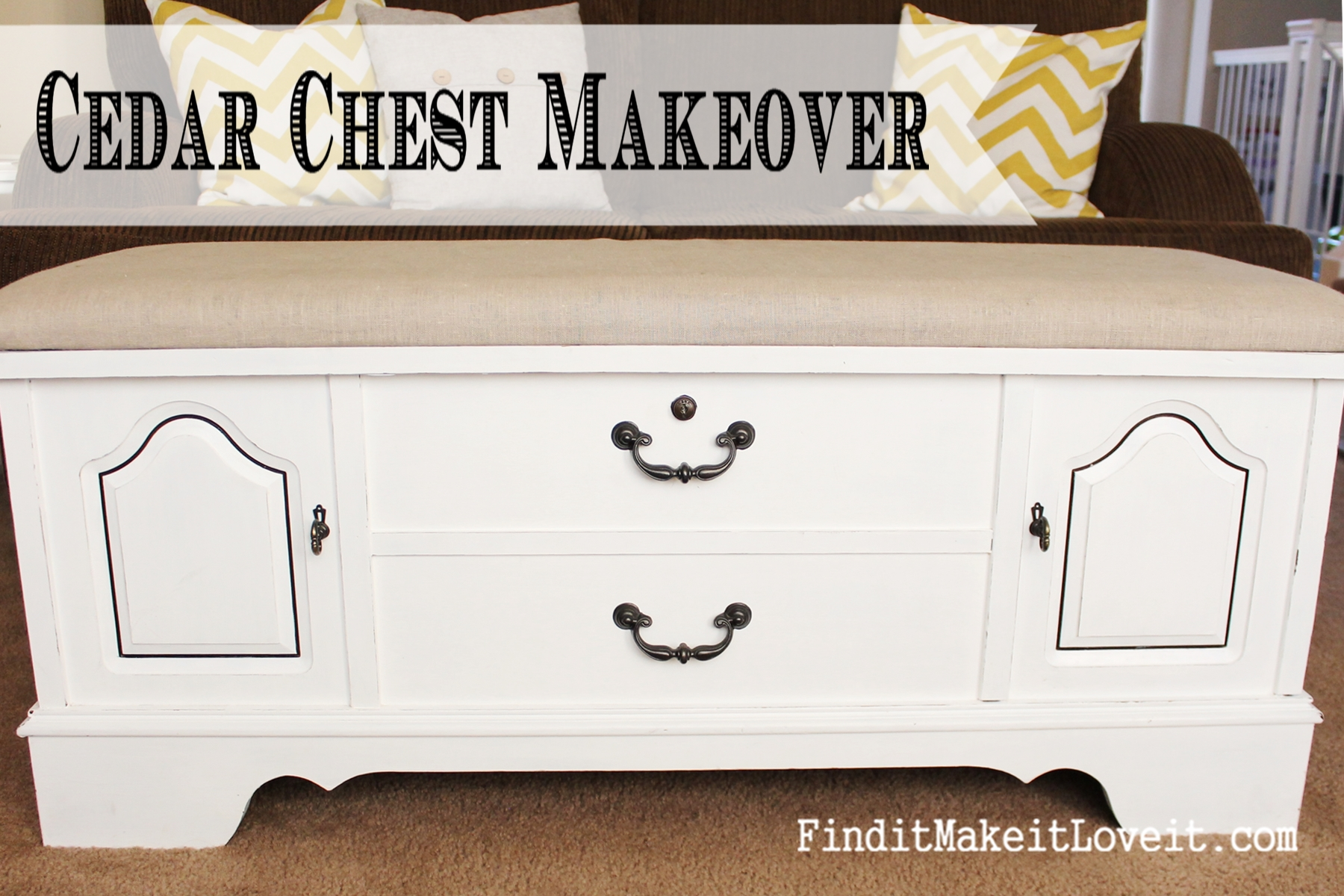 How To Paint And Reupholster A Cedar Chest Find It Make