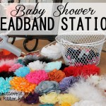 Baby Shower Headband Station