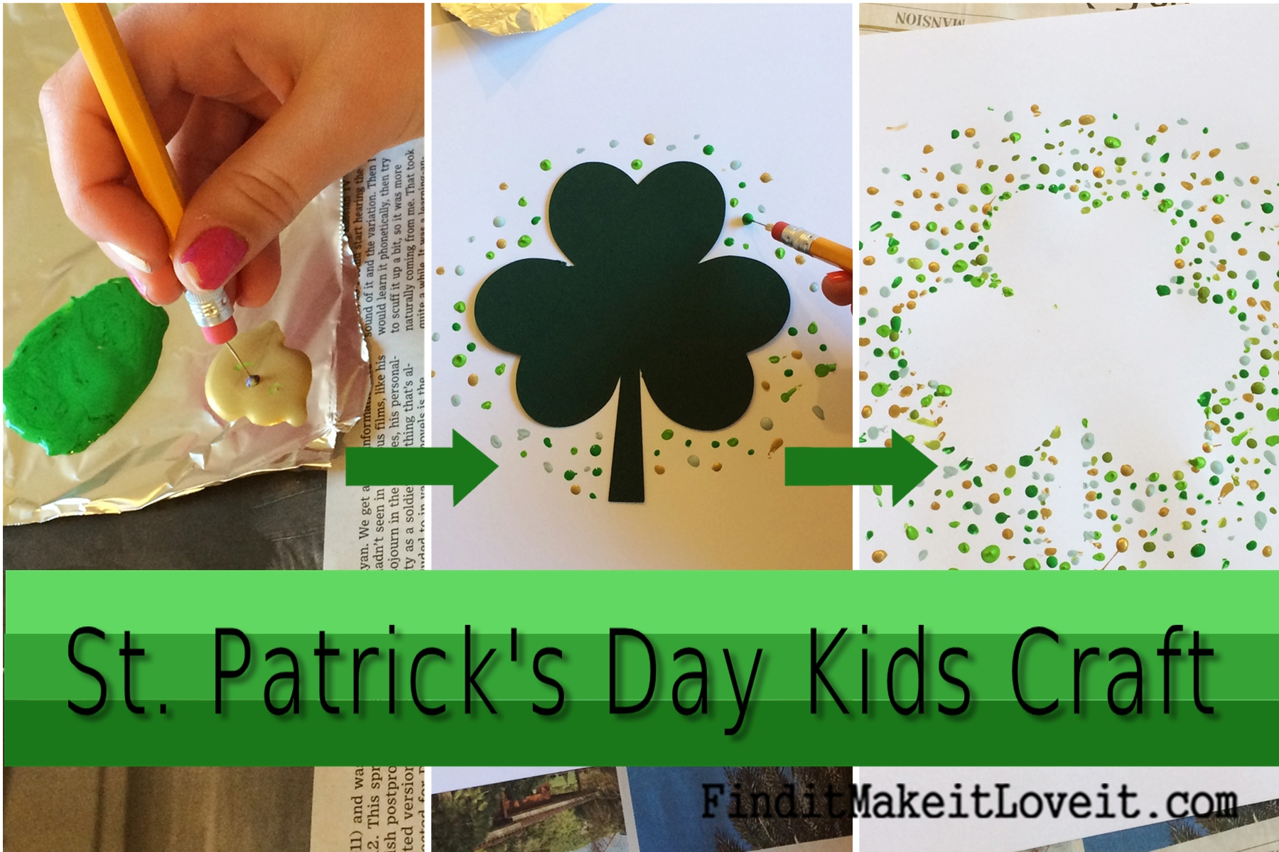 st patricks day kids craft 2 - St Patricks Day Pictures To Color 2