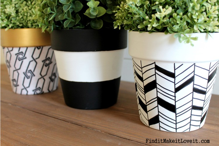Upcycled Dollar Store Pots (9)