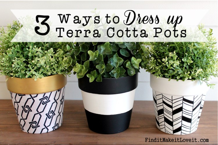 dress up terra cotta pots