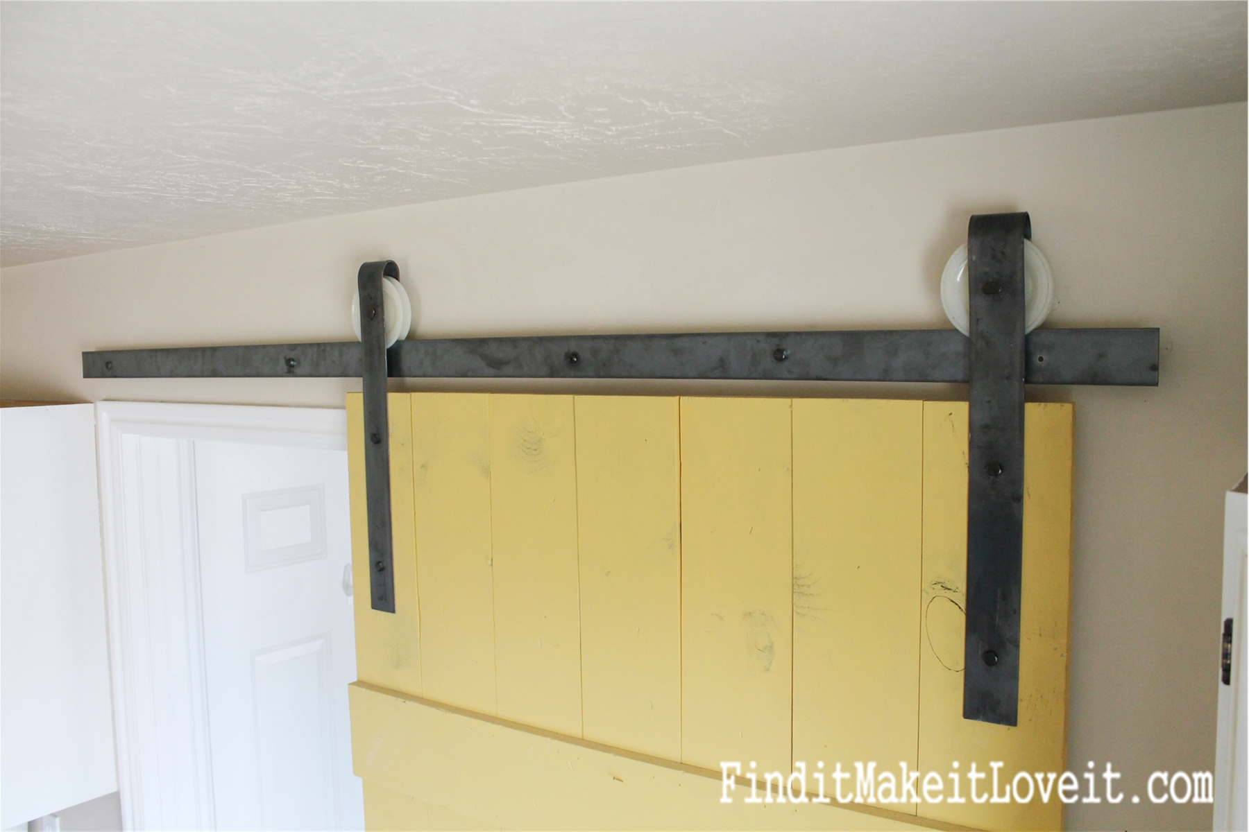 Diy Barn Door Track Find It Make Love
