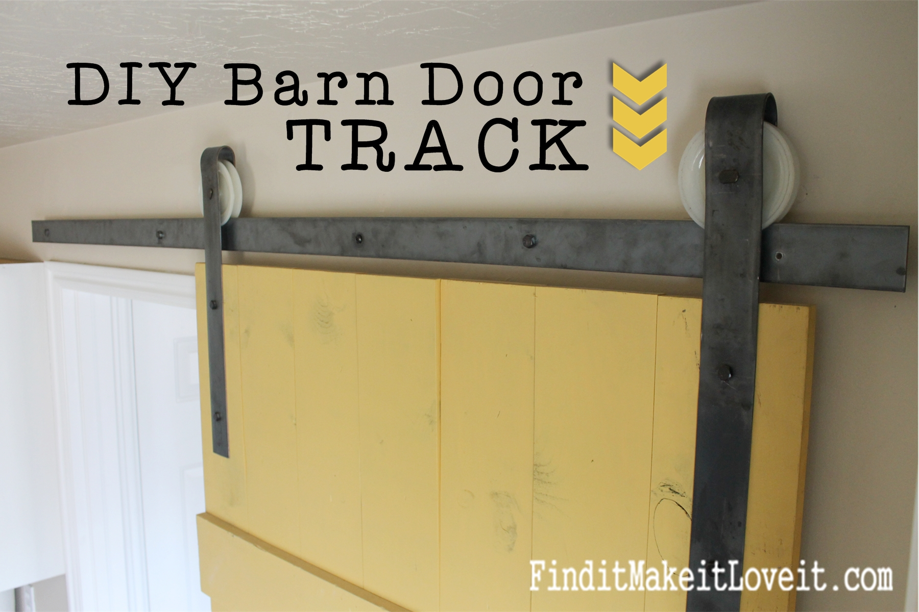 Diy Bypass Barn Door Hardware diy barn door track - find it, make it, love it