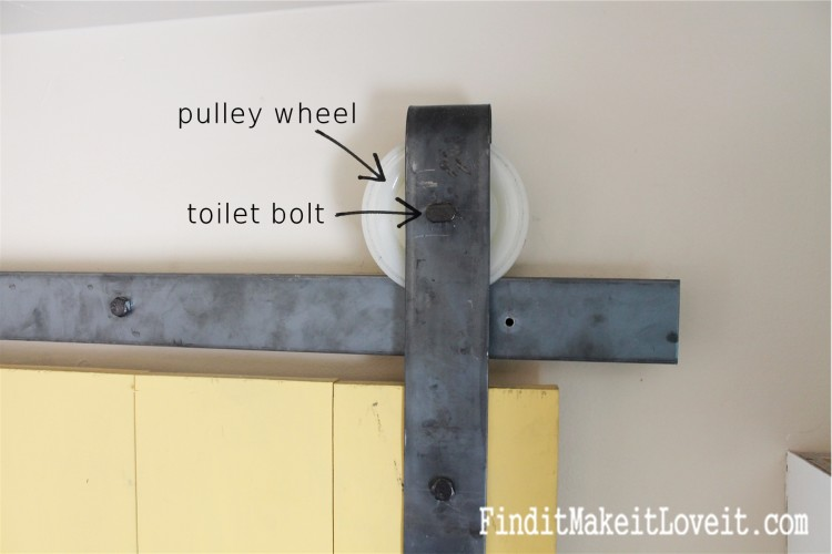 DIY Barn door track (1)