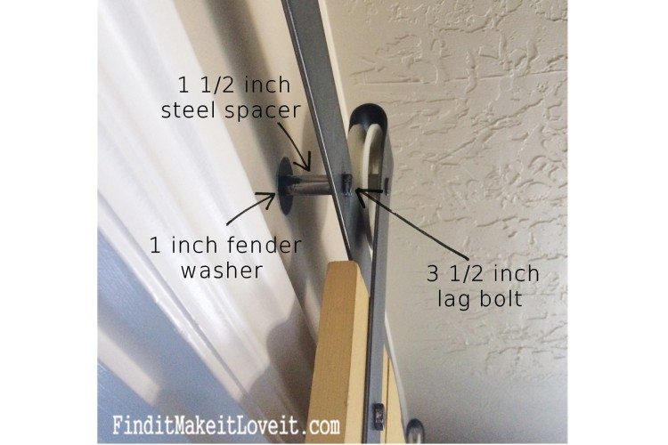 DIY Barn door track (3)
