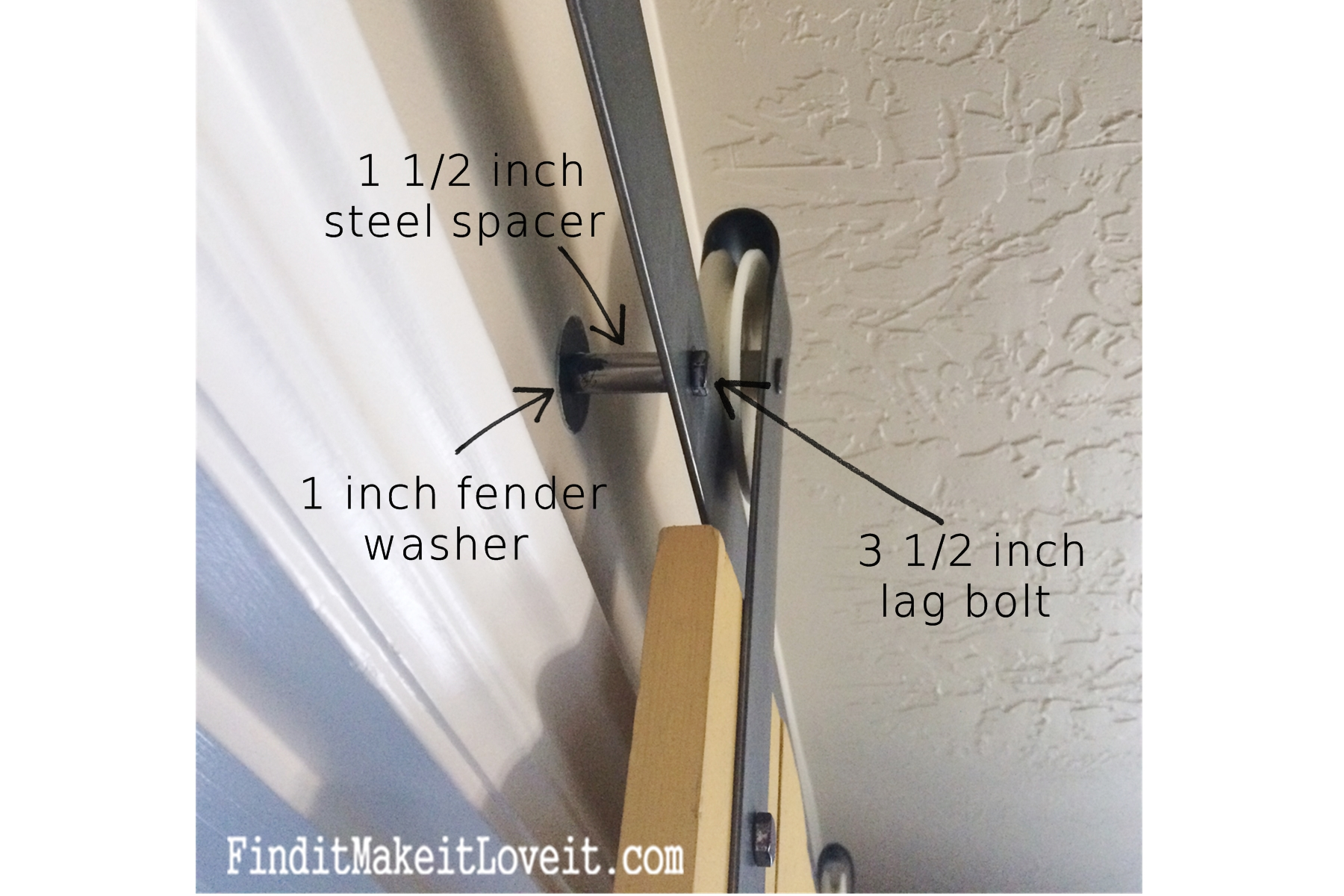 Genial DIY Barn Door Track (3)