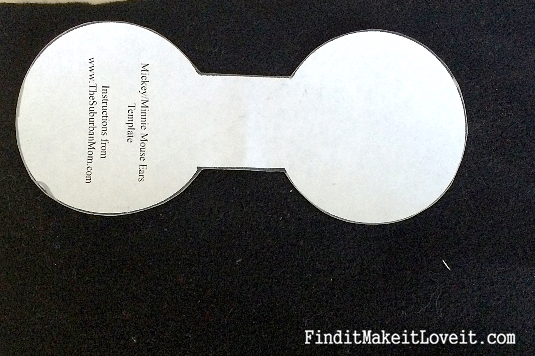 minnie mouse ear template - diy mickey or minnie mouse ears find it make it love it