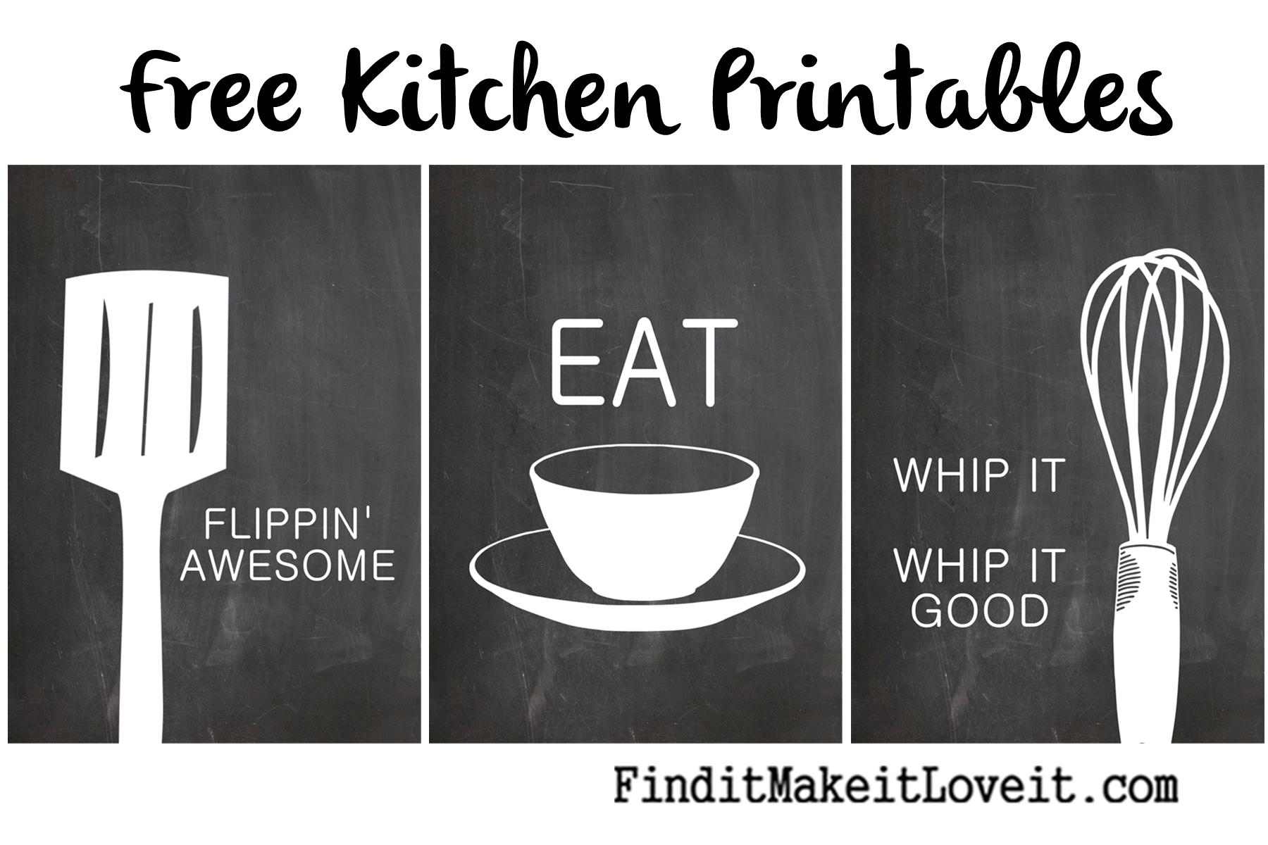 photo relating to Free Kitchen Printable referred to as Free of charge Kitchen area Printables - Discover it, Create it, Get pleasure from it