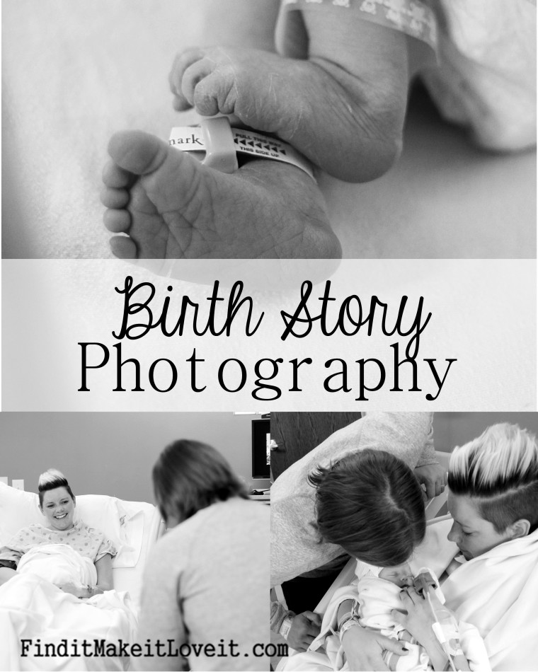 Birth Story Photography-beautiful photos capturing sweet moments and details of a cesarean birth