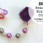 DIY Beaded Binky Clip