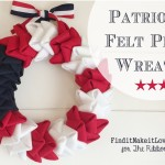Patriotic Felt Petal Wreath