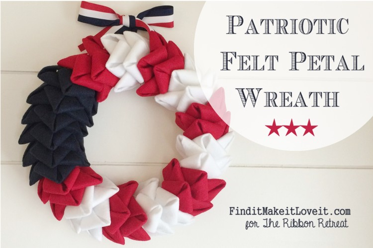 patriotic felt petal wreath (3)