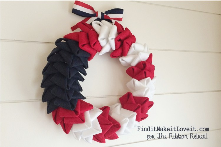 patriotic felt petal wreath (5)