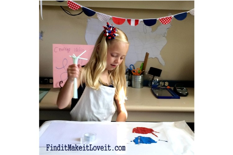 Painted Fireworks-craft for kids (2)