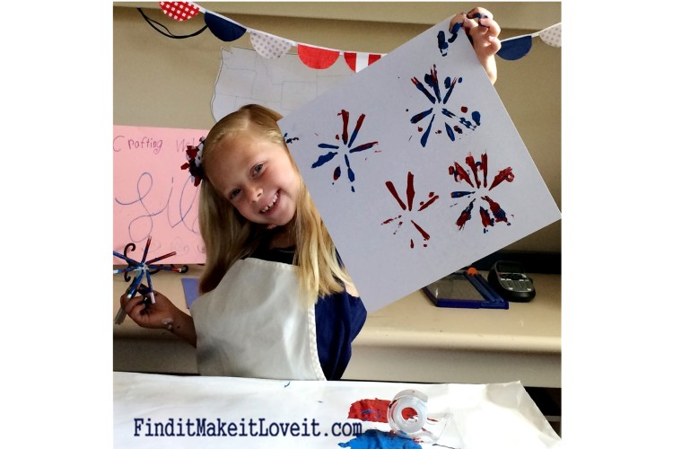 Painted Fireworks-craft for kids (3)