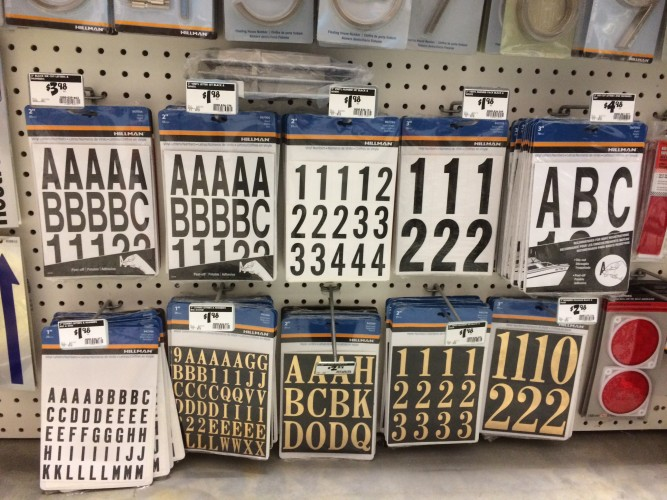 Address stickers from the hardware store can be used as craft vinyl