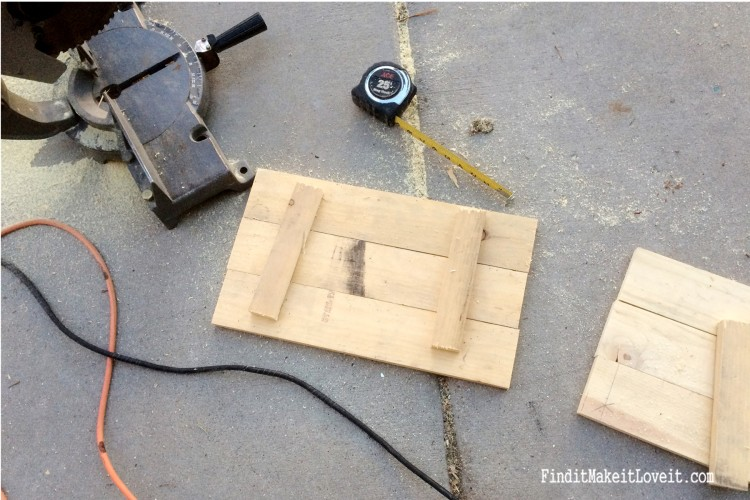 Scrap wood cut and turned into a DIY slat sign